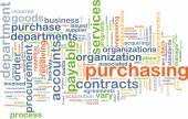 Purchasing wordcloud concept illustration — Stock Photo