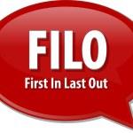 FILO acronym word speech bubble illustration — Stock Photo #70716409