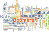 Baby boomers wordcloud concept illustration — Stock Photo