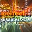 Perfect storm wordcloud concept illustration glowing — Stock Photo #70859921