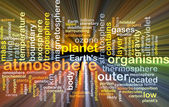 Atmosphere wordcloud concept illustration glowing — Stock Photo