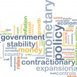 Monetary policy wordcloud concept illustration — Stock Photo #71044069