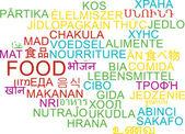 Food multilanguage wordcloud background concept — Stock Photo