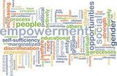 Empowerment wordcloud concept illustration — Stock Photo