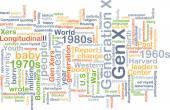 Gen X wordcloud concept illustration — Stock Photo