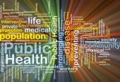Public Health wordcloud concept illustration glowing — Stock Photo
