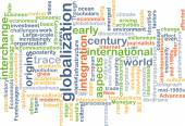 Globalization wordcloud concept illustration — Stock Photo