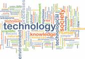 Technology wordcloud concept illustration — Stock Photo