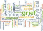 Grief wordcloud concept illustration — Stock Photo
