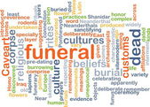 Funeral wordcloud concept illustration — Stock Photo