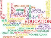 Education multilanguage wordcloud background concept — Stock Photo
