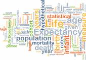 Life expectancy wordcloud concept illustration — Stock Photo