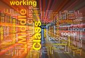 Middle class  background wordcloud concept illustration glowing — Stock Photo