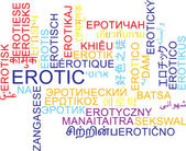 Erotic multilanguage wordcloud background concept — Stock Photo