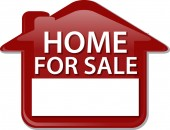 Home for sale sign Illustration clipart — Stock Photo