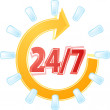 Open 24 by 7 Illustration clipart — Stock Photo #71327077