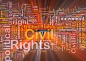 Civil rights wordcloud concept illustration glowing — Stock Photo