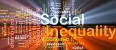 Social inequality wordcloud concept illustration glowing — Stock Photo