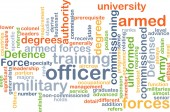 Officer wordcloud concept illustration — Stock Photo