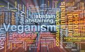 Veganism wordcloud concept illustration glowing — Stock Photo