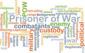 Prisoner of War wordcloud concept illustration — Stock Photo
