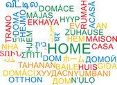 Home multilanguage wordcloud background concept — Stock Photo