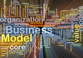 Business model background concept glowing — Stock Photo