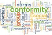 Conformity background concept — Stock Photo