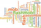 Flash mob background concept — Stock Photo