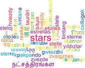 Stars multilanguage wordcloud background concept — Stock Photo