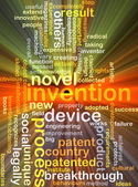 Invention background concept glowing — Stock Photo