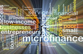 Microfinance background concept glowing — Stock Photo