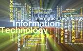 Information technology background concept glowing — Stock Photo