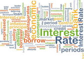 Interest rate background concept — Stock Photo