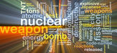 輝く核兵器背景コンセプト — ストック写真