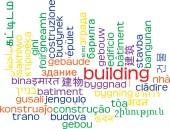 Building multilanguage wordcloud background concept — Stock Photo