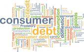 Consumer debt background concept — Stock Photo