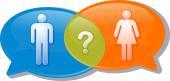 Man woman gender comparison Conversation negotiation argument Il — Stock Photo