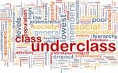 Underclass wordcloud concept illustration — Stock fotografie
