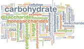 Carbohydrate wordcloud concept illustration — Stock Photo