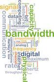 Bandwidth wordcloud concept illustration — Stock Photo