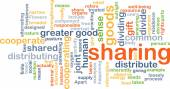 Sharing wordcloud concept illustration — Stock Photo