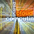 Cloud computing wordcloud concept illustration glowing — Stock Photo #72102309
