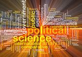 Illustrazione di concetto di scienza politica wordcloud incandescente — Foto Stock
