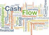 Cash flow background concept — Stok fotoğraf