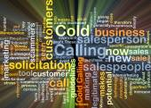 Cold calling background concept glowing — Stock Photo