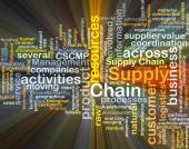 Supply chain background concept glowing — Stock Photo