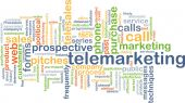 Telemarketing background concept — Stock Photo