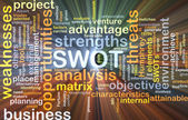 Strengths weakness opportunities threats SWOT background concept — Stock Photo