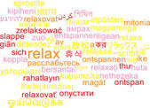 Relax multilanguage wordcloud background concept — Stock Photo
